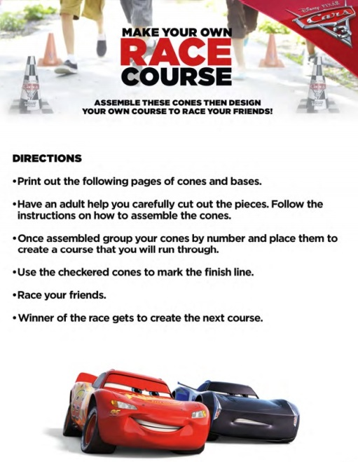 Make Your Own Race Course, Cars 3 Movie, Lightning McQueen